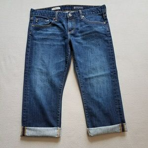 Ag Adriano Goldschmied Jeans - AG Tomboy Relaxed Straight Leg Crop SZ 32